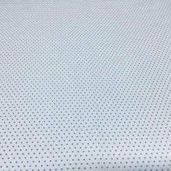 Baby Blue Polka Dot on White