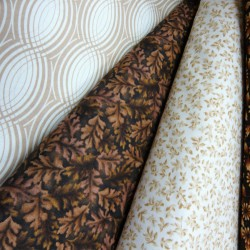 Cream and Brown Fabric