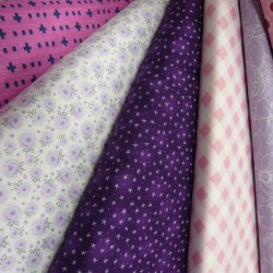 Pink and Purple  Fabric