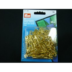 Curved Brass Safety Pins