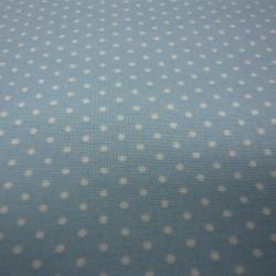 White Polka Dots on Baby Blue
