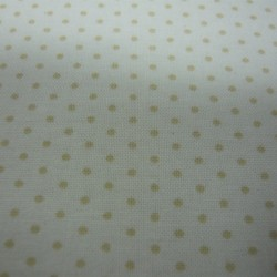 Cream Polka Dot on White