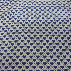 Tiled Up Blue Hearts