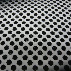 Scribble Dots White Black Dots