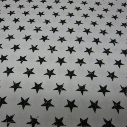 Starry White with Black Stars