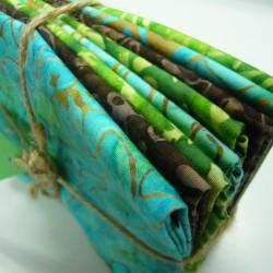 Teal / Green / Brown Batik Bundle