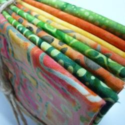 Orange / Yellow / Green Batik Bundle