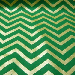 Green and Gold Chevron